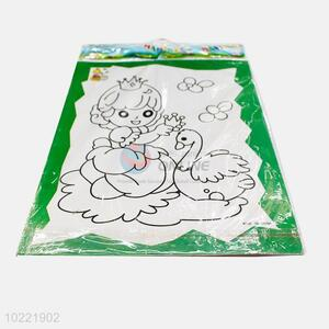 Latest design princess shape drawing paper for children