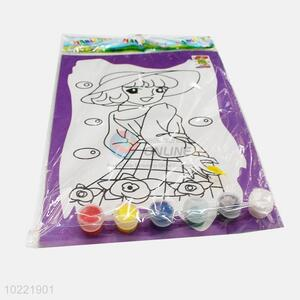 Hot selling fashion lady shape drawing paper for kids