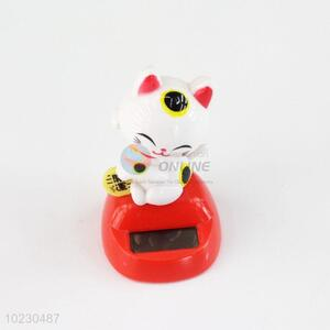 Promotional energy saving solar cat car ornament/car decorative gift