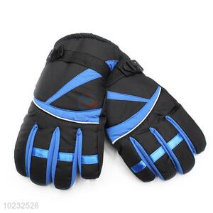Wholesale hot sales new style black&blue glove