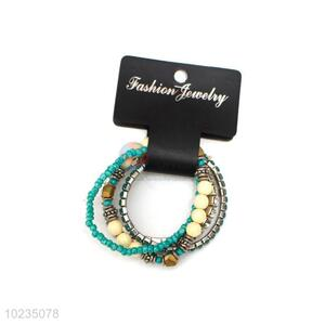 Wholesale Colorful Multi Circle Beaded Bracelet For Ladies