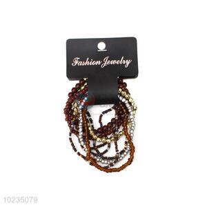 Fashion Design Multi Circle Beaded Bracelet For Ladies