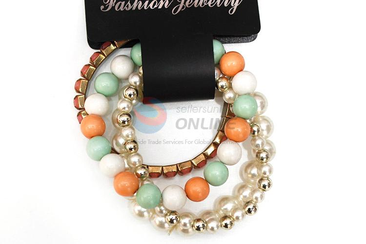 Latest Fashion Accessories Multi Circle Beaded Bracelet