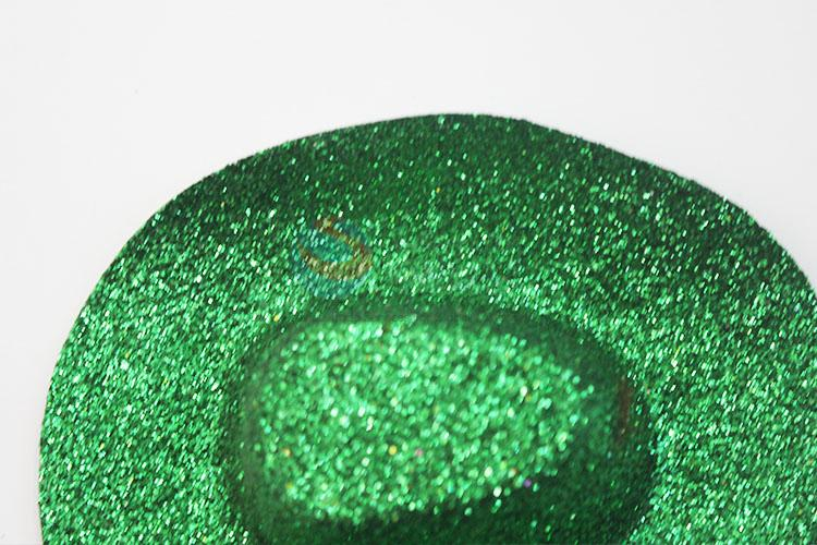 Good quality green glitter PVC party hat/cowboy hat