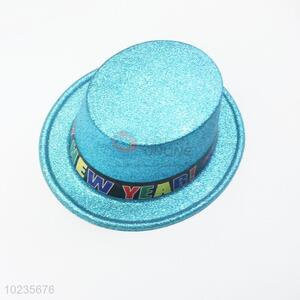 Wholesale PVC glitter blue party top hat