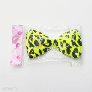 Hot sale yellow PVC bow tie