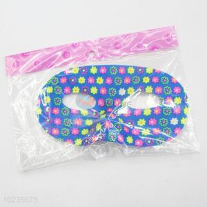 New arrival blue flower pattern PVC party mask