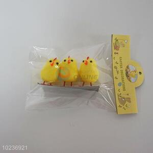 Lovely Yellow Plastic Easter Chicken Crafts