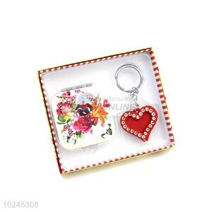 Popular Nice Mirror and Key Chain Set with Gift Box