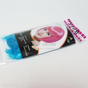 Competitive price custom short blue students wig