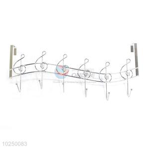 Custom Wall-Mounted Notes Shape 5 Hook Metal Coat Hooks