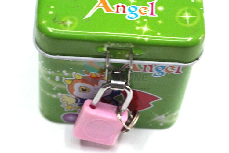 Factory Hot Sell Green Money Box with Lock&Key for Sale