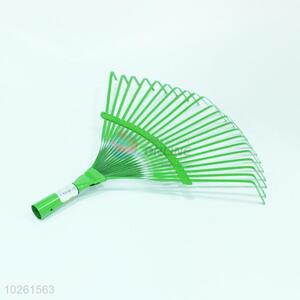 Hot selling green iron garden rake