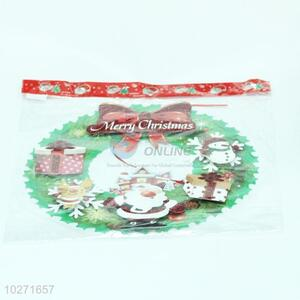Hot selling wholesale christmas garland decor glitter window static cling sticker