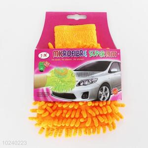 Newly low price beautiful car wiping gloves