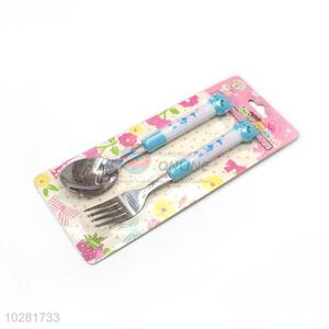 Best Quality Cartoon Handle Stainless Steel Fork And Spoon Set