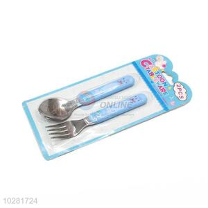 Hot Selling Stainless Steel Fork And Spoon Set For Kids