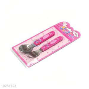 Cartoon Printing Fork And Spoon Set For Children