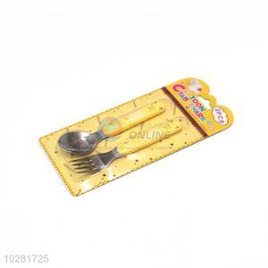 Custom Stainless Steel Fork And Spoon Set Children Tableware