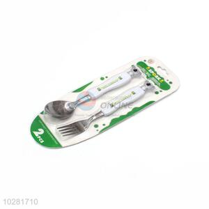 Easy Use Children Stainless Steel Fork And Spoon Set