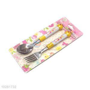 Best Sale Animal Shape Handle Kids Fork And Spoon Set