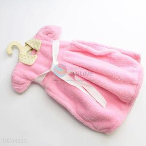 Pink Color Dress Shaped Hanging Wipe Bathing Towel