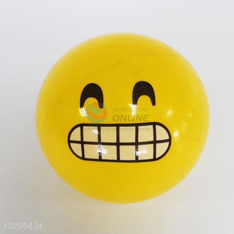 Hot sale funny emoji smile face pvc toy balls - Sellersunion