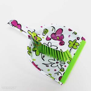 Floral Dustpan and Brush/Broom Set