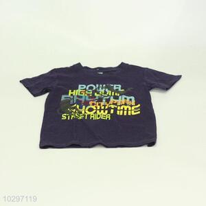 Fashion Color Printing Boy Short Sleeve T-Shirt