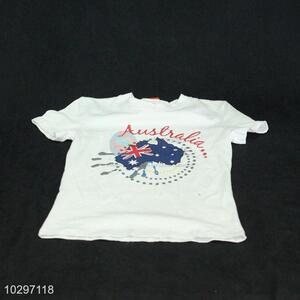 Simple Style Boy Short Sleeve T-Shirt