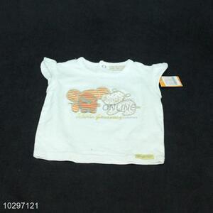 Wholesale Cartoon Pattern Girls Sleeveless T-Shirt