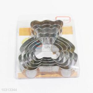 Good quality low price bear shape 5pcs biscuit moulds