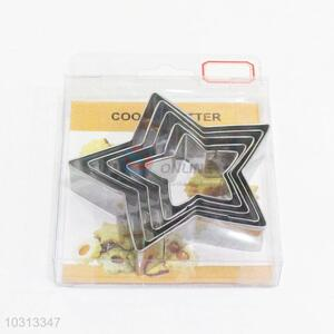 New product low price good star shape 5pcs biscuit moulds