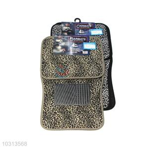 Hot Sale Leopard Print Car Mats/Non Slip Floor Mats for Sale