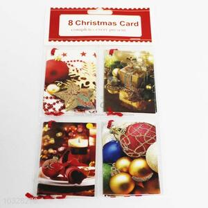 Pretty Cute 8pc Paper Cards Christmas Greeting Card