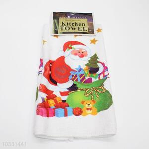 Wholesale China Supply Christmas Polyester Cotton Tea Towel