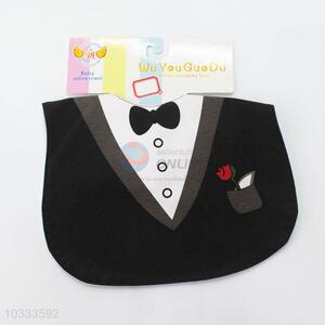 High quality low price best cool black suit baby saliva towel
