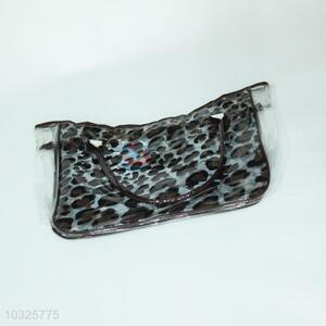 Leopard Printed Transparent Beach Bag