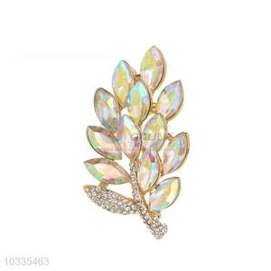 China maker cheap leaf shaped brooch