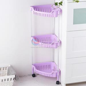 Popular Triangle Three Layers Storage Rack With Wheels