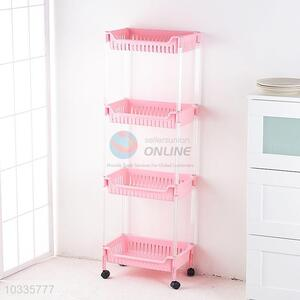 Cheap Four Layers Storage Rack Storage Holders With Wheels