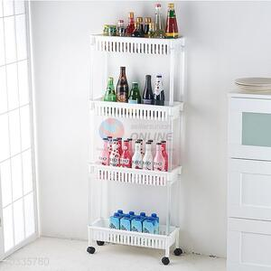 Custom Colorful Four Layers Storage Rack With Wheels