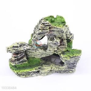 Artificial Stone with Moss Fish Tank Ornament Decoration