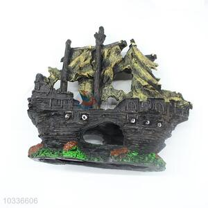 Warship Cave Pirate Ship Custom Aquarium Decoration
