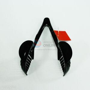 Black plastic bread tong,8*18*11cm