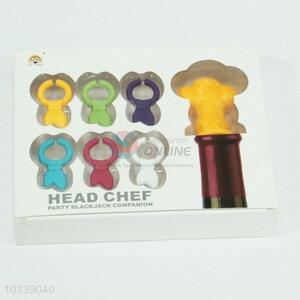 Kitchen Head Chef Plastic Bottle Stopper