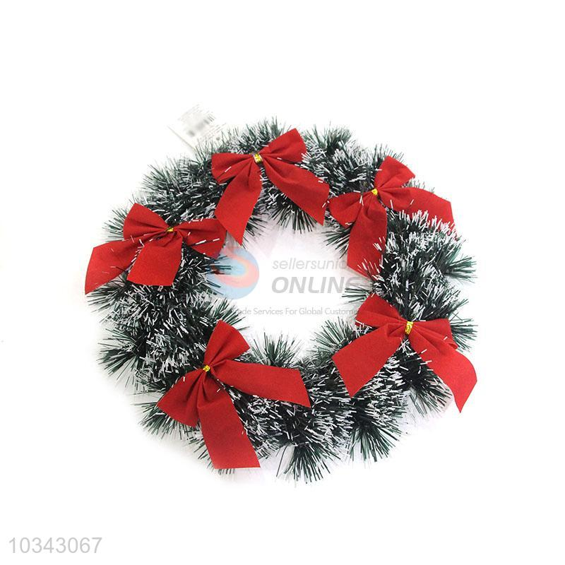Wholesale supplies christmas garland with bowknot for sale