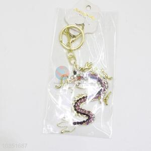 New Style Cartoon Dragon Keychain for Women Girl Bag