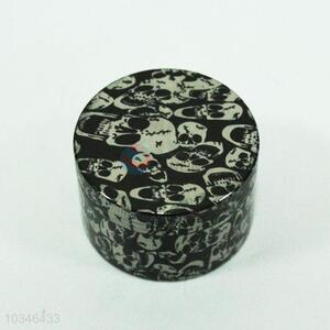 Skull printing round 4 layer muller grinder for smoking