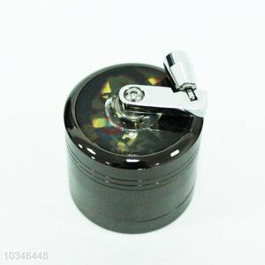 Round black weed grinder for smoking
